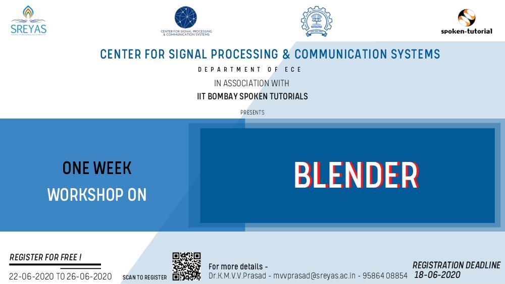 One Week workshop On Blender