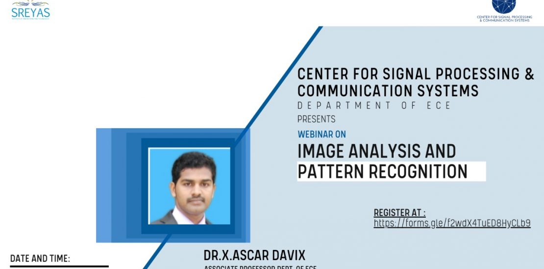 Image Analysis and Pattern Recognition