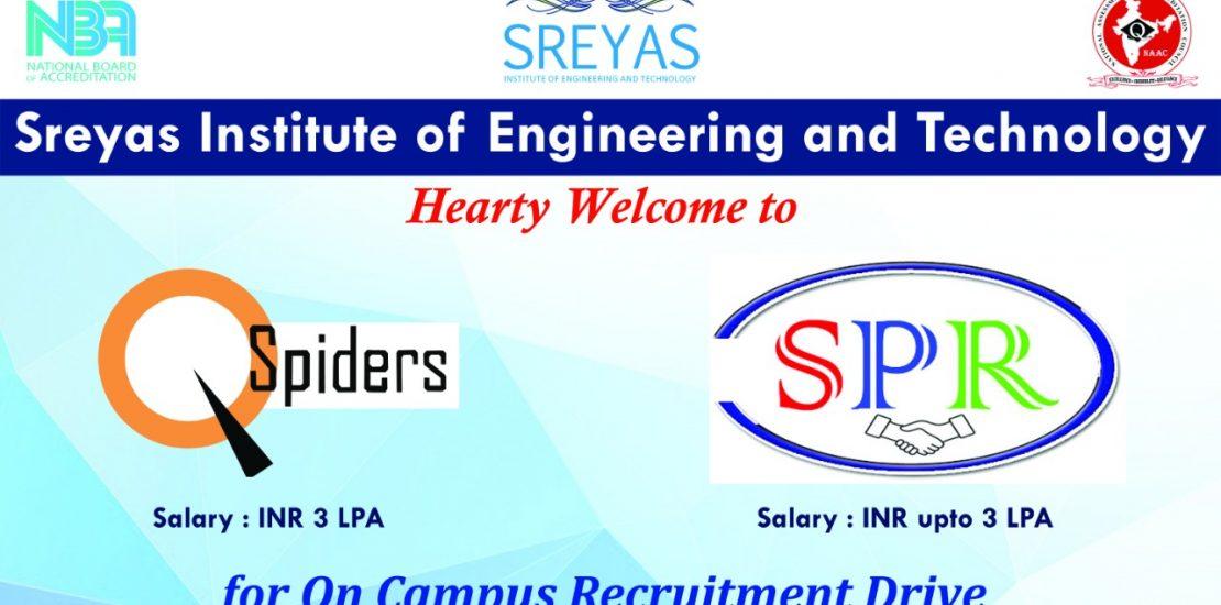 QSpider & SPR Campus Placement Drive