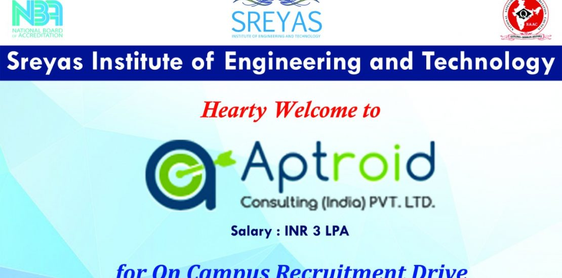 Campus Placement Drive conducted by Aptroid Consulting Pvt. Ltd.