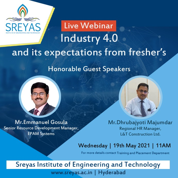 Industry 4.0 and its Expectations from fresher's